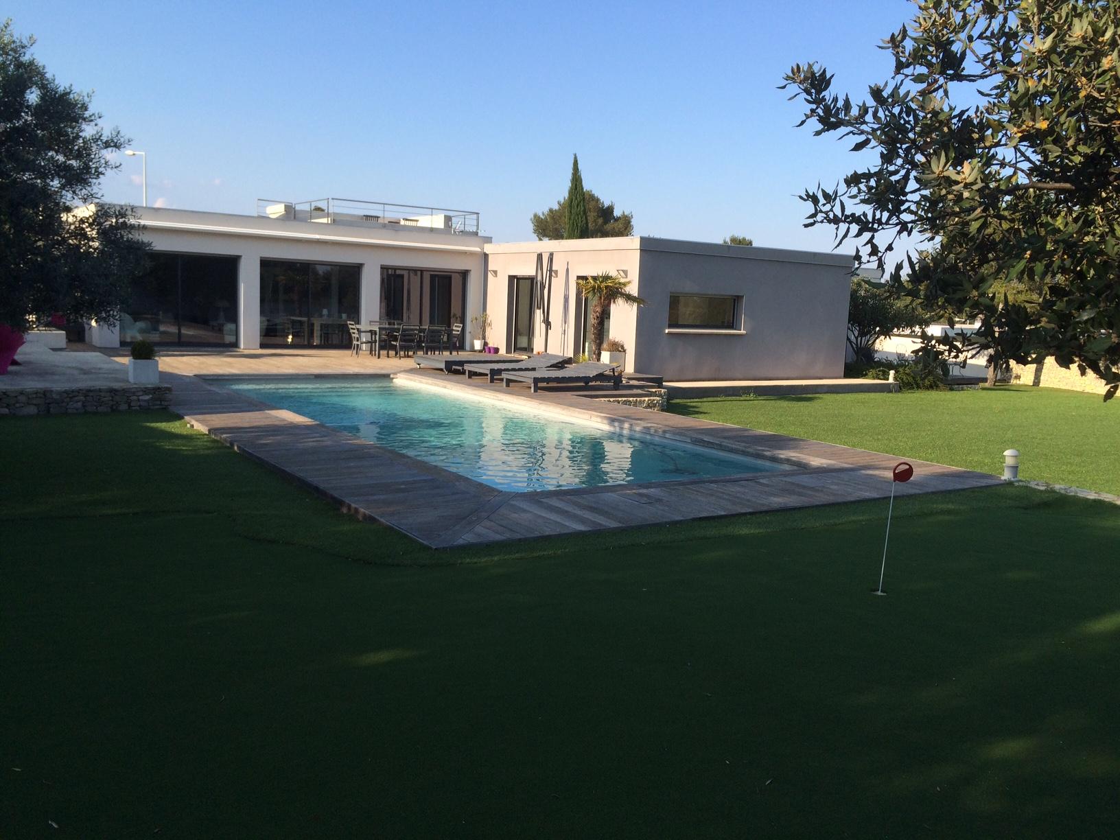 Vente maison villa contemporaine n mes car meau for Maison moderne nimes